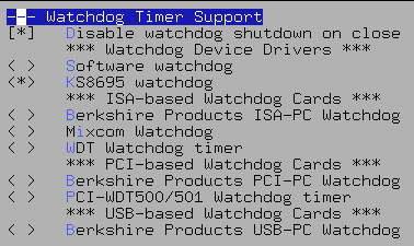 Watchdog Timer Support (Screenshot)